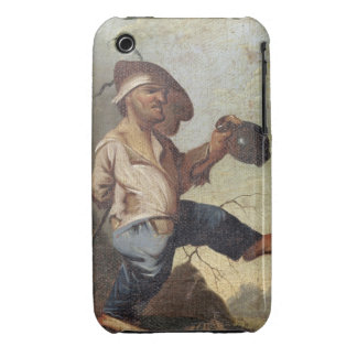 Dwarf Holding a Jug (oil on canvas laid down on pa iPhone 3 Case-Mate Case