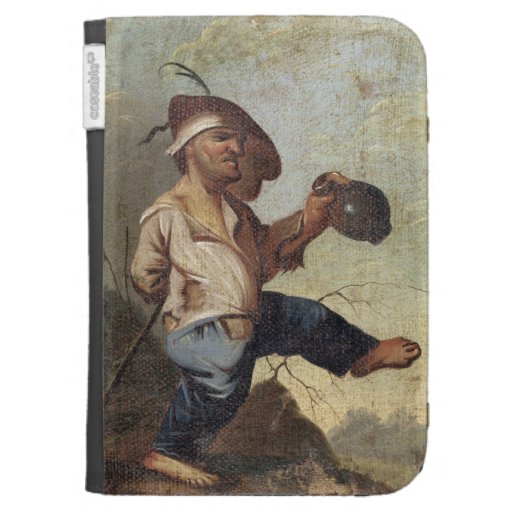 Dwarf Holding a Jug (oil on canvas laid down on pa Cases For The Kindle