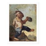 Dwarf Holding a Jug (oil on canvas laid down on pa Postcard