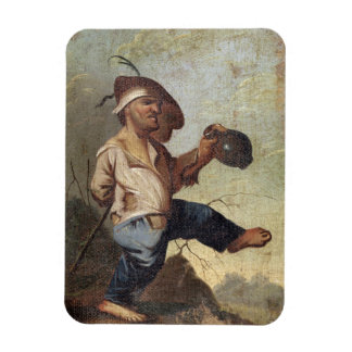 Dwarf Holding a Jug (oil on canvas laid down on pa Rectangular Photo Magnet