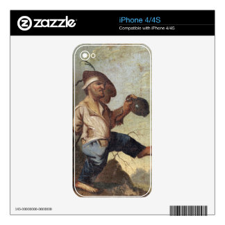 Dwarf Holding a Jug (oil on canvas laid down on pa iPhone 4S Decal