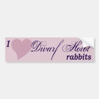 Dwarf Hotot rabbits bumper sticker