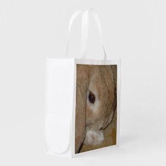 Dwarf Lop Eared Rabbit Photo Image Reusable Bag