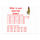 dwarf name post cards