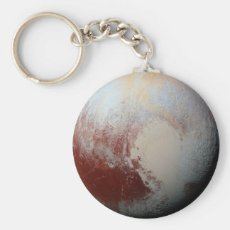 Dwarf Planet Pluto by NASA New Horizons 2015 Photo Keychain