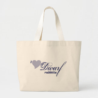 Dwarf rabbits tote bags