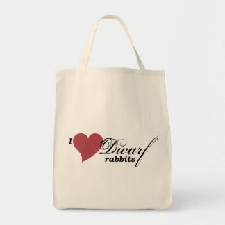 Dwarf rabbits grocery tote bag