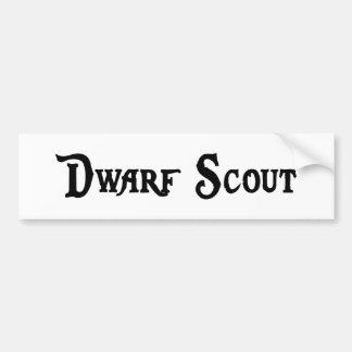 Dwarf Scout Bumper Sticker