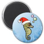 Dwarf Seahorse Santa Magnets
