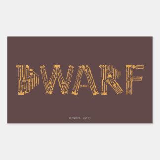 Dwarf Weapons Collage Rectangular Sticker