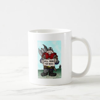 Dwarf: Will Work for Mana Classic White Coffee Mug