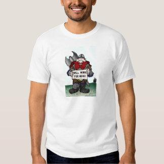 Dwarf: Will Work for Mana Tshirt