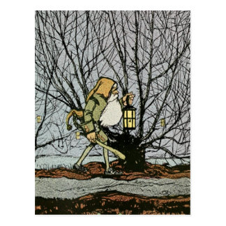 Dwarf with a Lantern Postcard