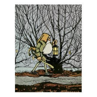 Dwarf with a Lantern Postcard