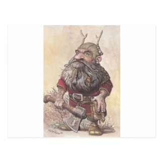 Dwarf with Axe Post Cards