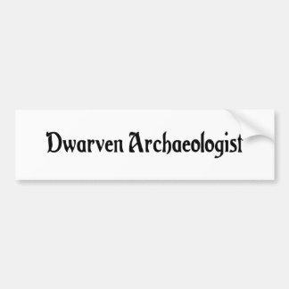 Dwarven Archaeologist Bumper Sticker Car Bumper Sticker
