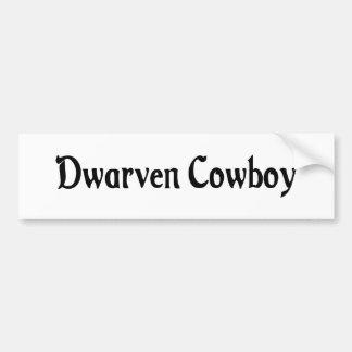 Dwarven Cowboy Bumper Sticker Car Bumper Sticker