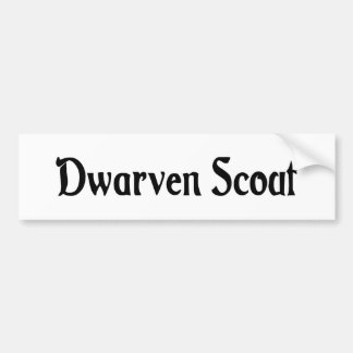 Dwarven Scout Bumper Sticker