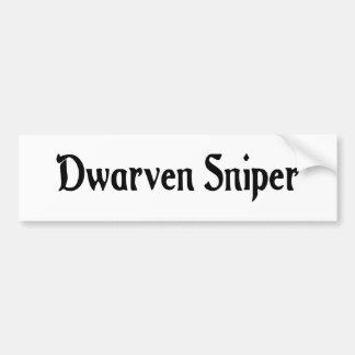 Dwarven Sniper Bumper Sticker