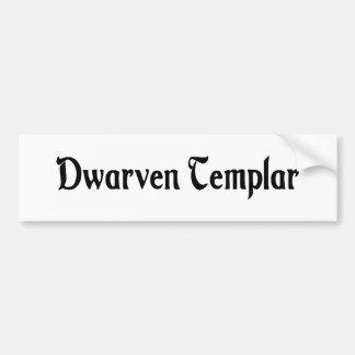 Dwarven Templar Bumper Sticker