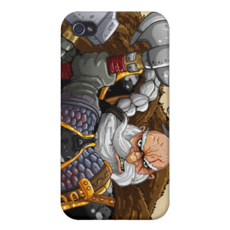 Dwarven Warrior Cover For iPhone 4