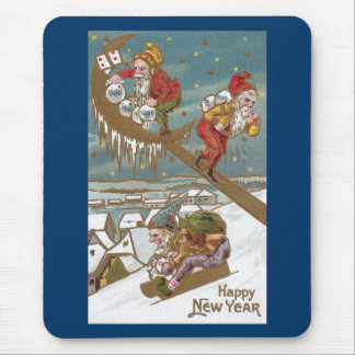 Dwarves Delivering Gold on New Year's Day Mouse Pad