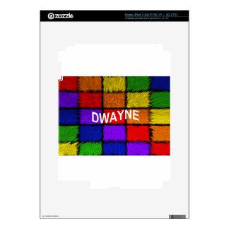 DWAYNE iPad 3 DECAL