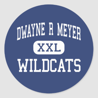 Dwayne R Meyer Wildcats Middle River Falls Classic Round Sticker