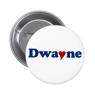Dwayne with Heart 2 Inch Round Button