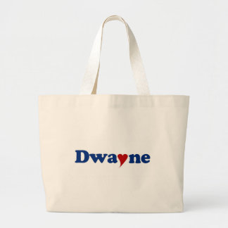 Dwayne with Heart Canvas Bags