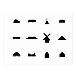 Dwelling Symbols Postcard