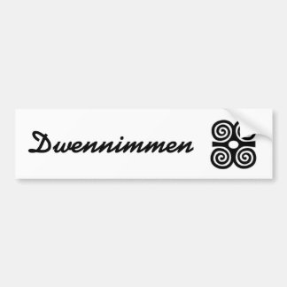 Dwennimmen adhesive (humility and force) bumper stickers