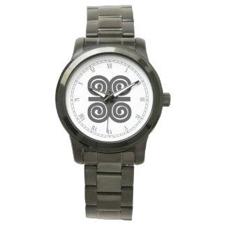 Dwennimmen - símbolo de Adinkra de la fuerza y de Relojes