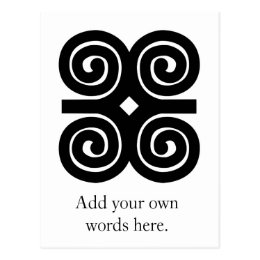Dwennimmen - Strength and Humility Adinkra Symbol Postcard