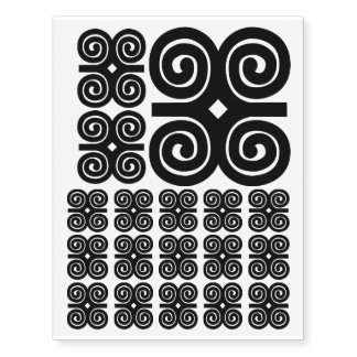 Dwennimmen - Strength and Humility Adinkra Symbol Temporary Tattoos