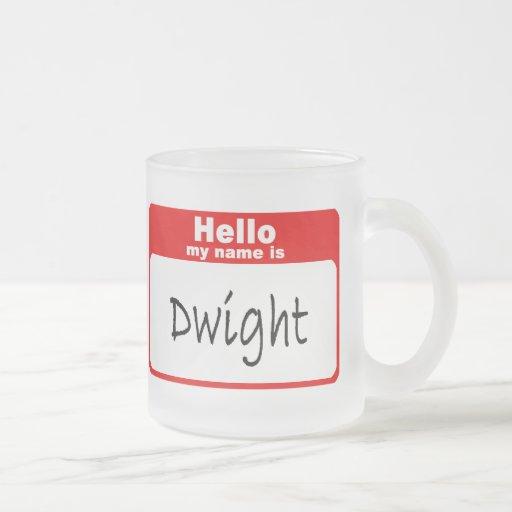 Dwight4 10 Oz Frosted Glass Coffee Mug