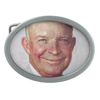 Dwight D. Eisenhower Oval Belt Buckle