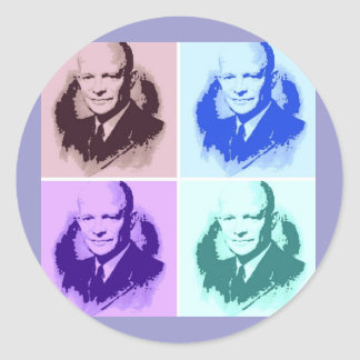 Dwight D Eisenhower Classic Round Sticker