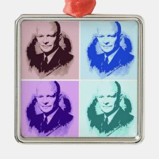 Dwight D Eisenhower Metal Ornament