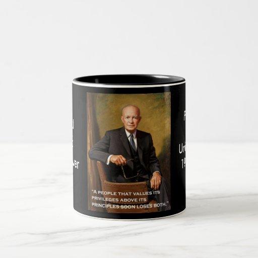 Dwight_D._Eisenhower official portrait Two-Tone Coffee Mug