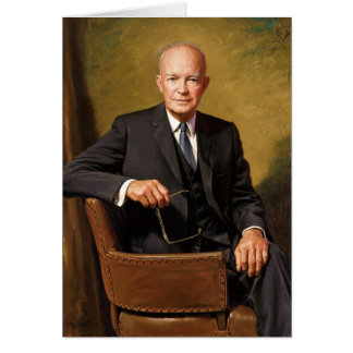 Dwight D Eisenhower Official Presidential Portrait Card