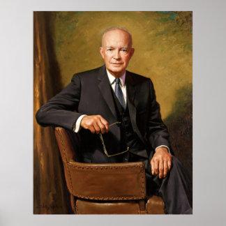 Dwight D Eisenhower Official Presidential Portrait Poster