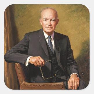 Dwight D Eisenhower Official Presidential Portrait Square Sticker