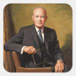 Dwight D. Eisenhower Pegatina Cuadrada