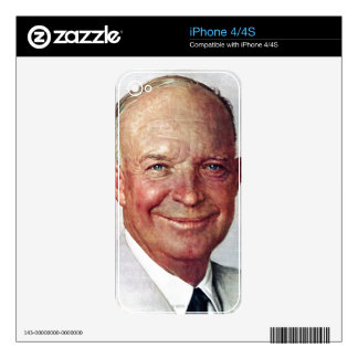 Dwight D. Eisenhower Decal For iPhone 4