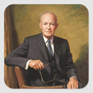 Dwight D. Eisenhower Square Sticker