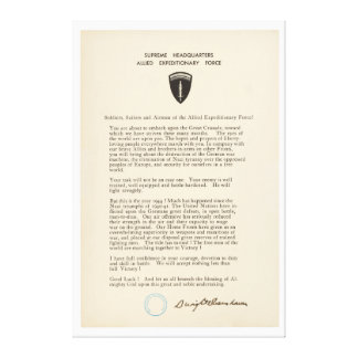 Dwight D. Eisenhower's Order of the Day (1944) Canvas Print