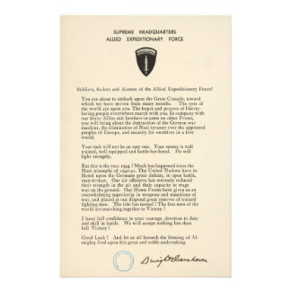 Dwight D. Eisenhower's Order of the Day (1944) Stationery