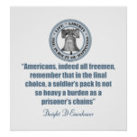 Dwight Eisenhower Quote (chains) Print