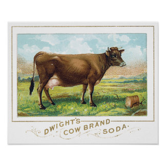Dwight's Cow Brand Soda Poster